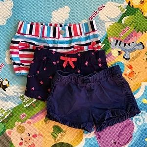 🆕 🌈 Gymboree/Carter's | 3 pairs of shorts 3T